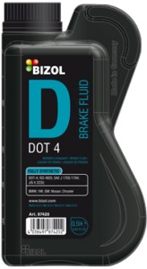 Bizol 87420 Brake Fluid DOT 4 0,5L